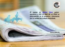 Das Projekt Quijote Nachrichten, in einem Blog über die Lehre Land hervorgehoben